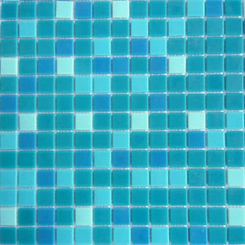 Mosaics No dots mix bleu