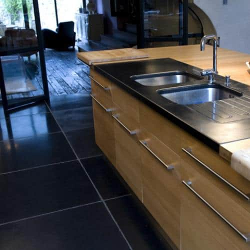 Kitchen granite worktops Noir absolu adouci