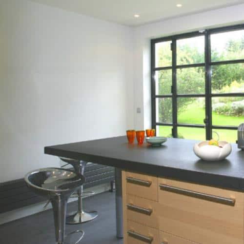 plan de travail granit noir absolu patin 2 mdy france. Black Bedroom Furniture Sets. Home Design Ideas
