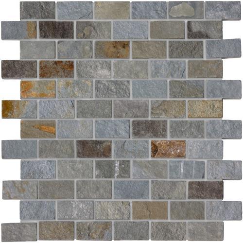 Mosaics Rustic green 4.9x2.3x1 cm