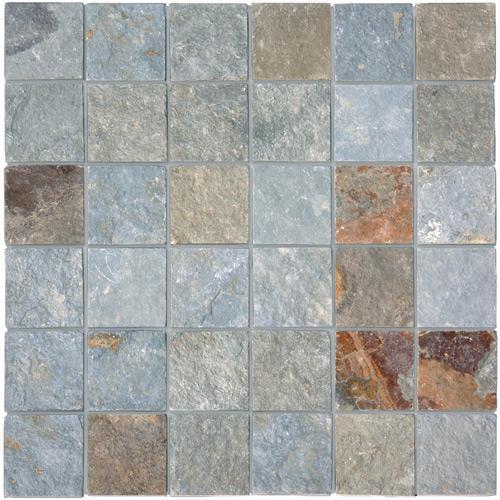 Mosaics Rustic green 4.9x4.9x1 cm