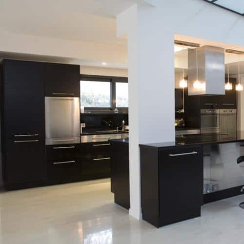 Kitchen granite worktops Zet black poli