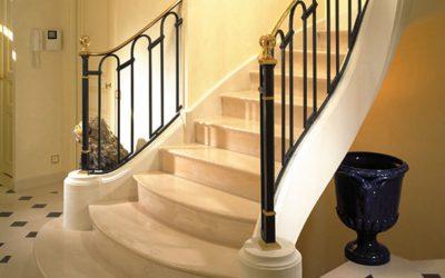 Escalier en pierre des Yvelines