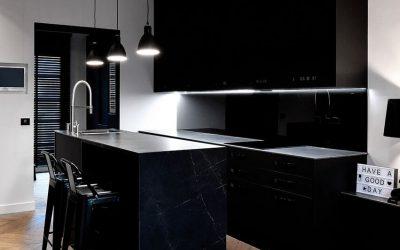 Cuisine marbre Noir Maquina