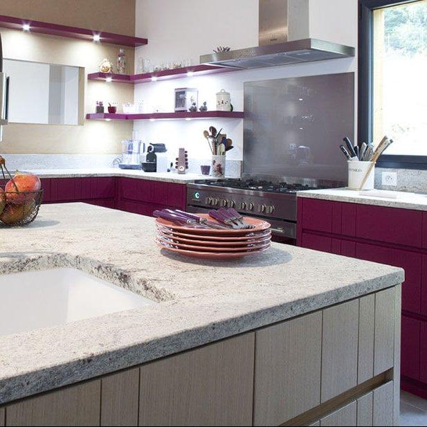 Plan de travail granit pour cuisine mdy france - Modele plan de travail cuisine ...