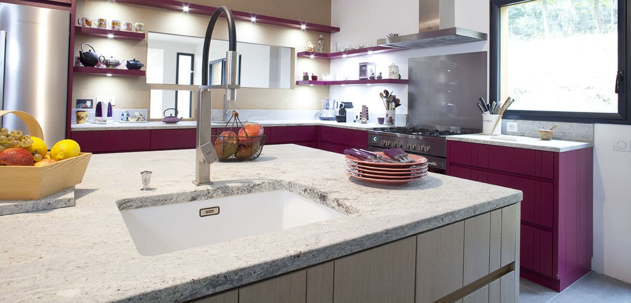Kitchen granite worktops Kashmir White