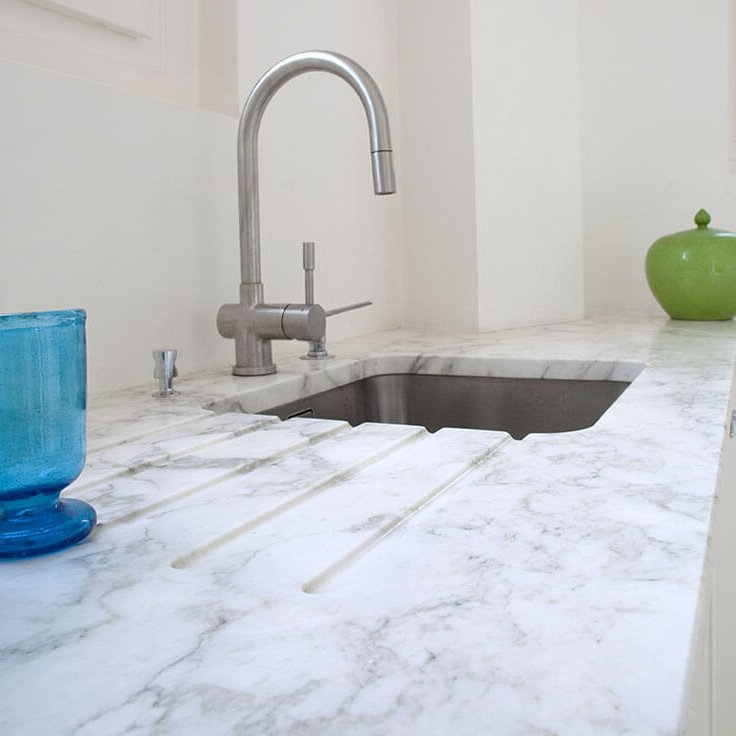 Plan de travail marbre Calacatta-Sarno