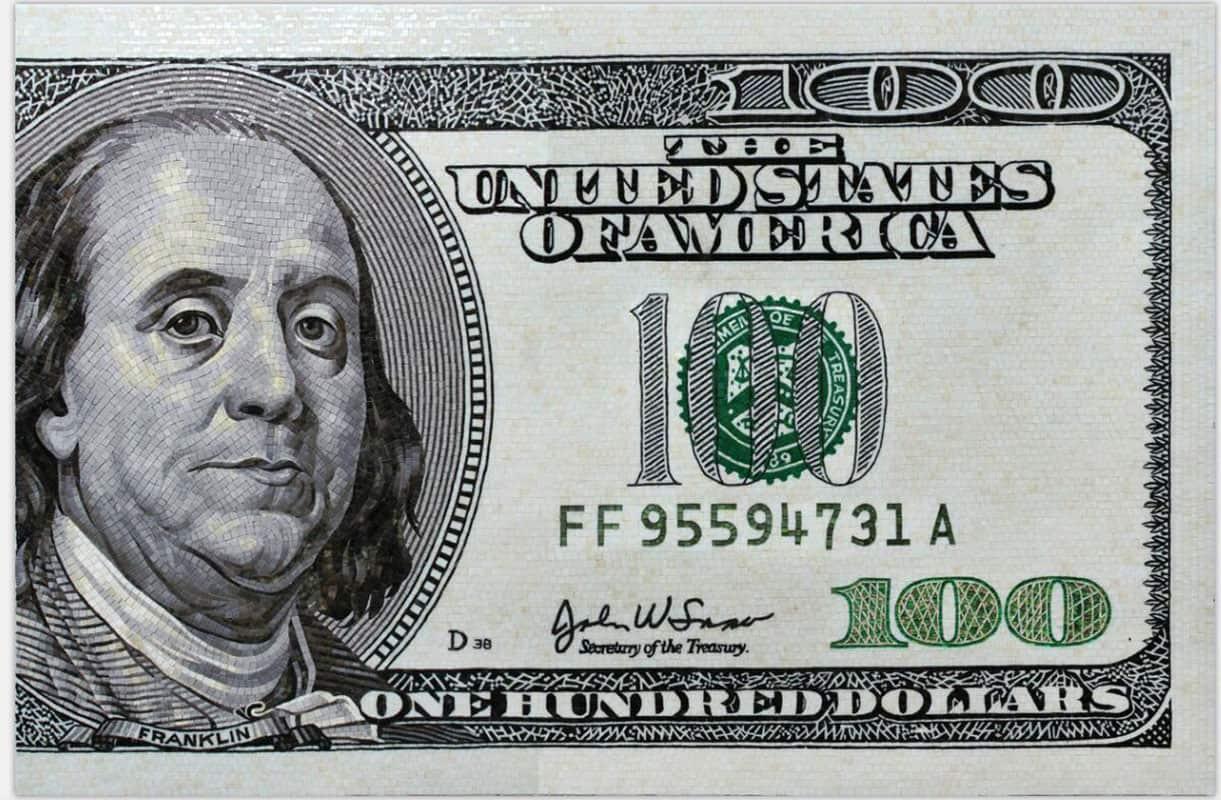 Mosaïques sur mesure Billet de 100$