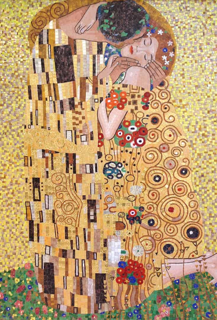 Mosaïques sur mesure Le Baiser de Klimt
