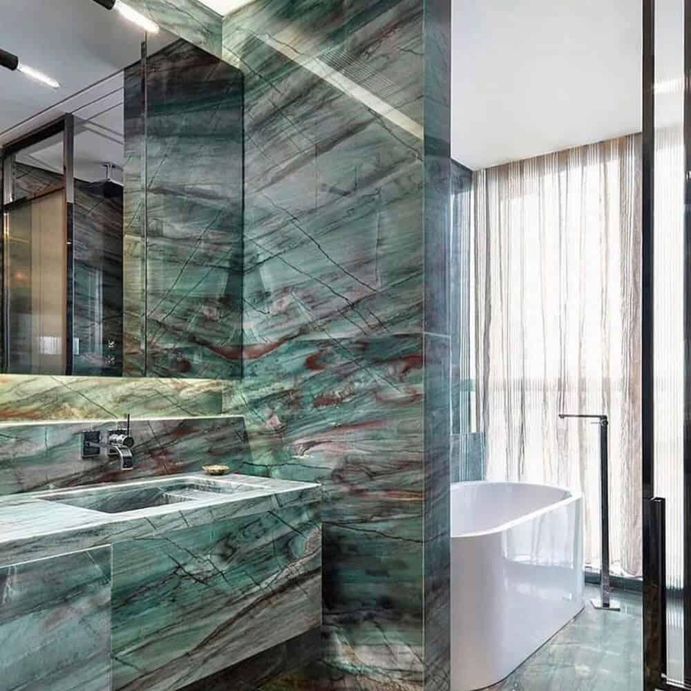 Salle de bain en quartzite Giada du Brésil