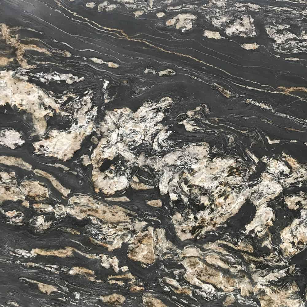 Tranche de granit Fusion Black