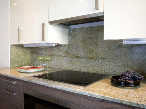 Cuisine en Granit Jungle green